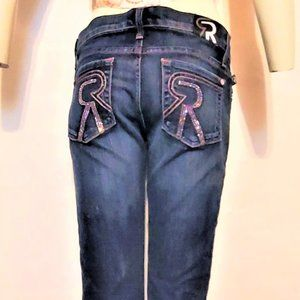 Rock & Republic Pink Crystal Pocket Flare Jeans